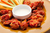 Fried Chicken Wings — Stock Photo