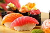 Japanese Cuisine - Sushi Set — Stock Photo
