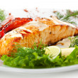 Zalm Steak — Stockfoto