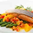 Salmon Steak — Stock fotografie