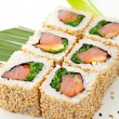 Smoked Salmon Roll — Stock Photo