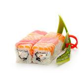 Lax och tonfisk rulle — Stockfoto