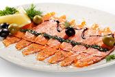 Salmon Carpaccio — Stock Photo