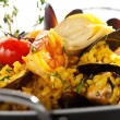 Seafood Paella — Stock Photo