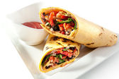 Burrito with Vegetables — Stock Photo