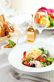 Seafood Spaghetti — Stock Photo