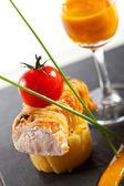 Chicken Fillet with Polenta — ストック写真