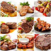 Meat Collage — Stock Photo