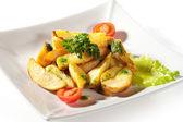 Sliced Potato — Stock Photo