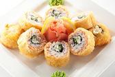 Salmon Fried Roll — Stock Photo
