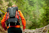 Hiking outdoors — Stock Photo
