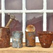 Rusty tin cans — Stockfoto #12262116