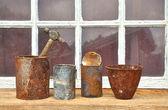 Latas de lata oxidadas — Foto de Stock