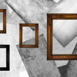Four wooden frames — Stock Photo