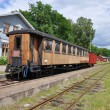 Stock Photo: Old train cars