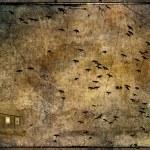 乌鸦攻击 — 图库照片