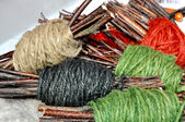 Yarn skeins — Stock Photo