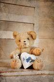 Teddy heart — Stock fotografie