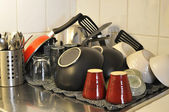 Washed dishes — Stock Photo