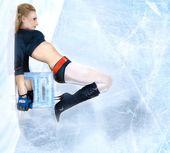 Girl on ice — Stock Photo