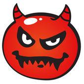 Devil face — Stock Vector