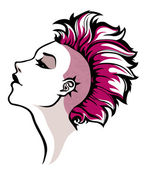 Punk girl — Stock Vector