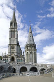 Close up of the Cathedral of Lourdes in France — Stock Photo