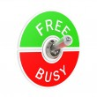 Free busy toggle switch — Stock Photo