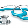 Ordinary medical stethoscope isolated — Stock Photo