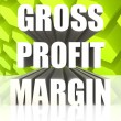 Gross Profit Margin — Stock Photo