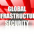 Foto de Stock  : Global Infrastructure Security