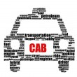 Cab word — Stock Photo