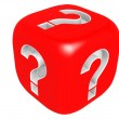 Dice with question mark — Stock Photo