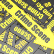 Crime scene banner — Stock Photo
