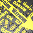 Warning banner — Stock Photo