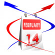 Calendar Feb 14 — Stock Photo
