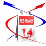 Calendar Feb 14 — Stock Photo