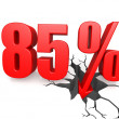 Eighty five percent down — Stock Photo