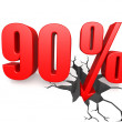 Ninety percent down — Stock Photo