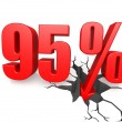 Ninety five percent down — Stock Photo