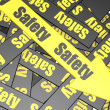 Safety banner — Foto Stock