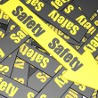 Safety banner — Stock Photo