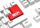 Help keyboard — Stock Photo