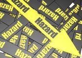 Hazard banner — Stock Photo