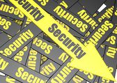 Security banner — Stock Photo