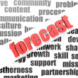 Business work of forecast — Stock Photo