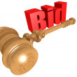 Bid with mallet — Stock Photo