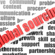 Global sourcing — Stock Photo