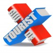 Tourist guide — Stock Photo