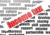 Business work of income tax — Stock Photo
